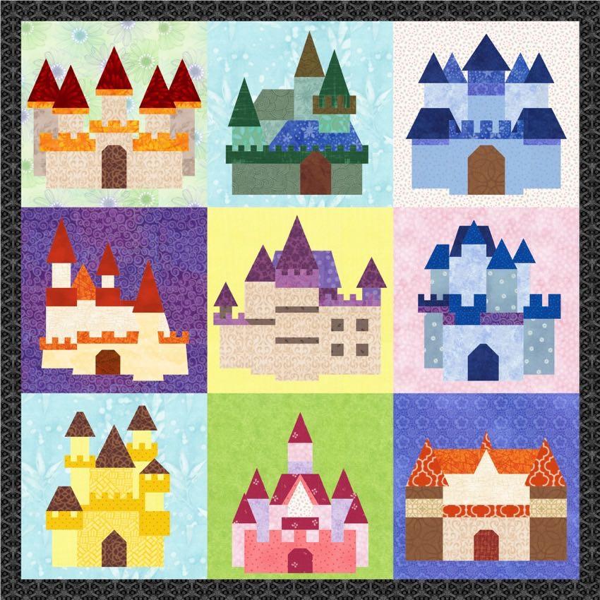 Fairy Tale Castles 9 Quilt Block Patterns Pdf Download